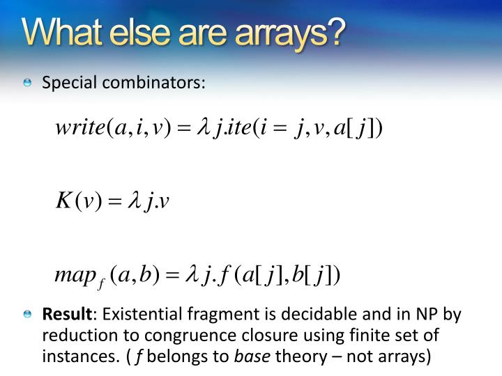 What else are arrays?