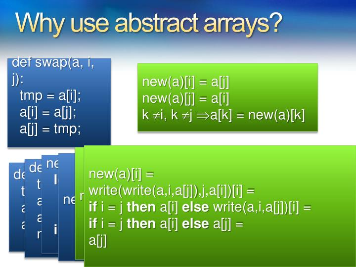Why use abstract arrays?