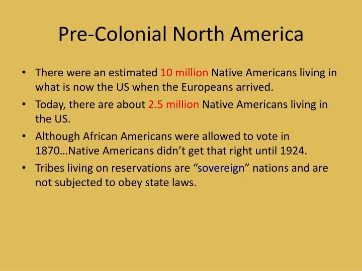 Pre-Colonial North America