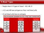 9 blood types
