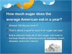 how much sugar does the average american eat in a year