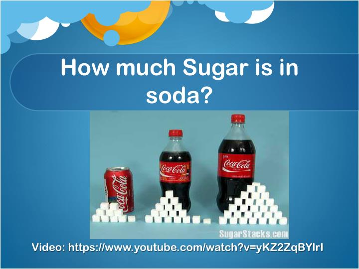How much sugar is in soda