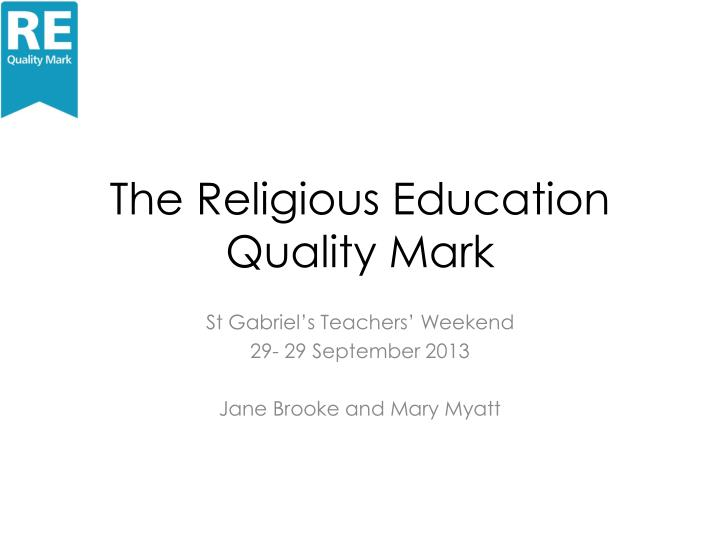 The religious education quality mark