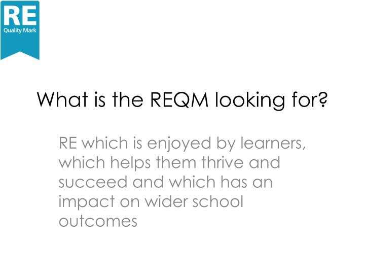 What is the REQM looking for?