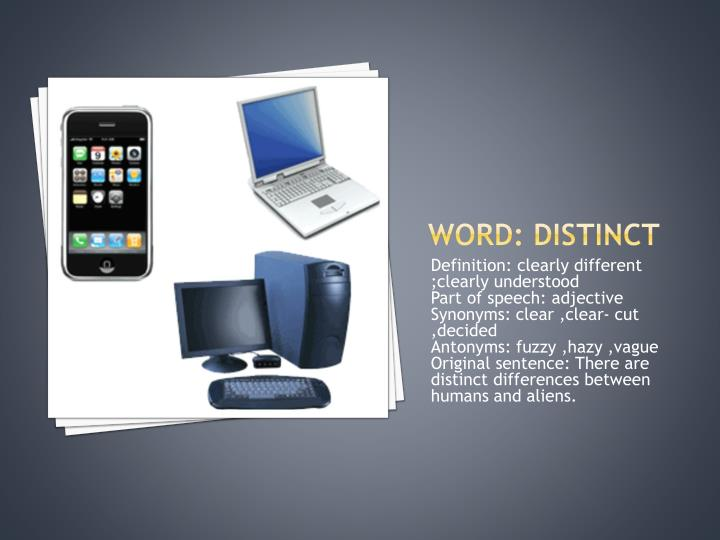 Word: distinct