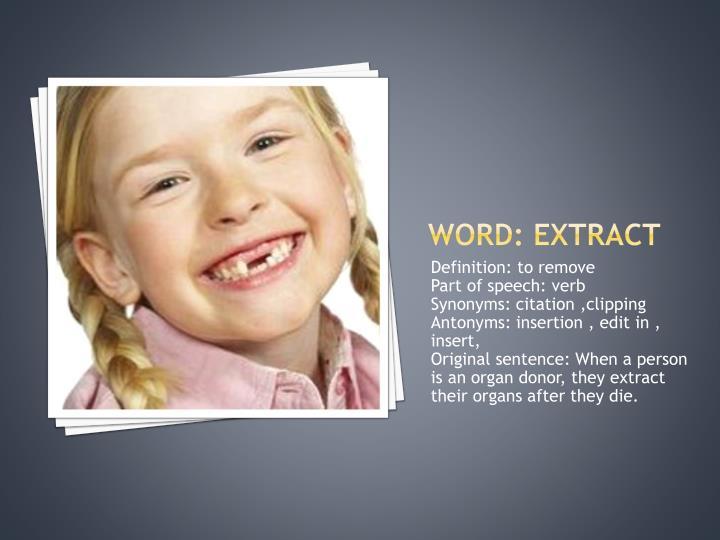 Word: extract