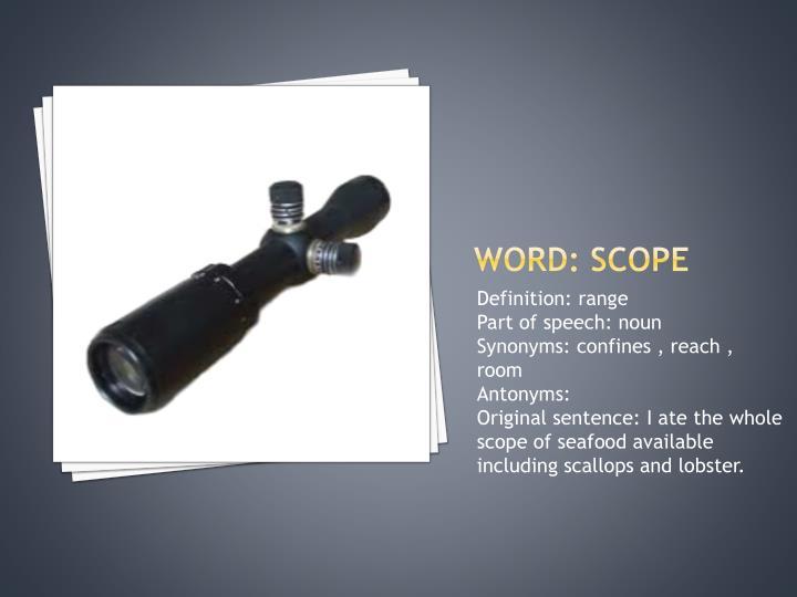 Word: scope