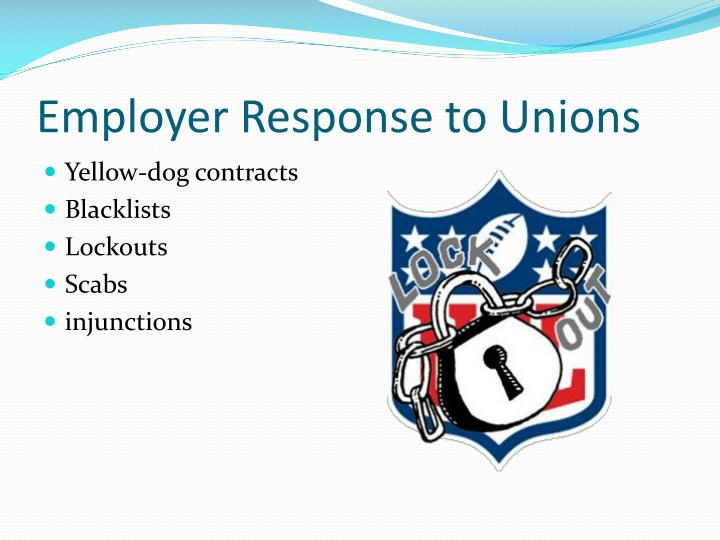 Employer Response to Unions