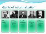 giants of industrialization