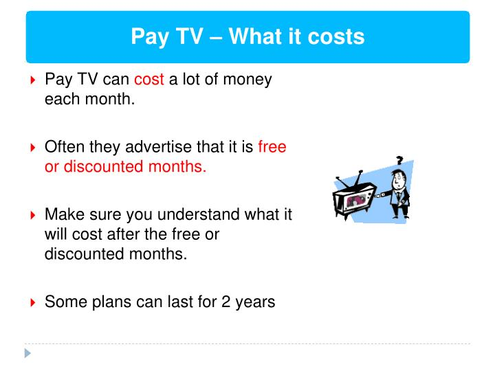 Pay TV – What it costs