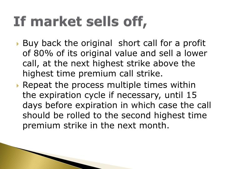 If market sells off,