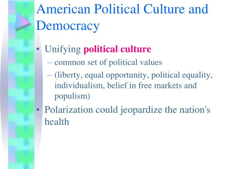 American Political Culture and Democracy