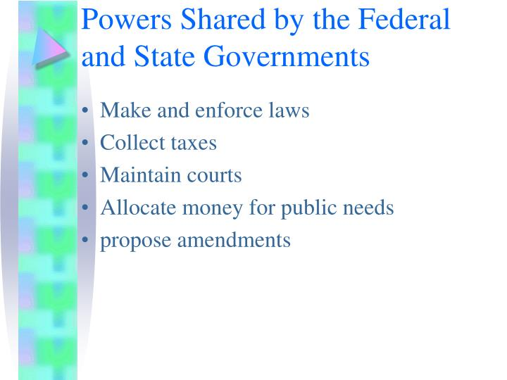 Powers Shared by the Federal and State Governments