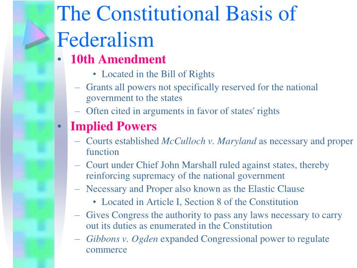 The Constitutional Basis of Federalism