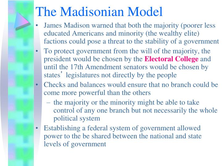 The Madisonian Model