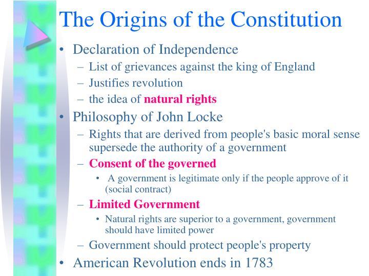 The Origins of the Constitution