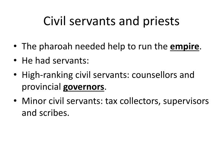 Civil servants and priests