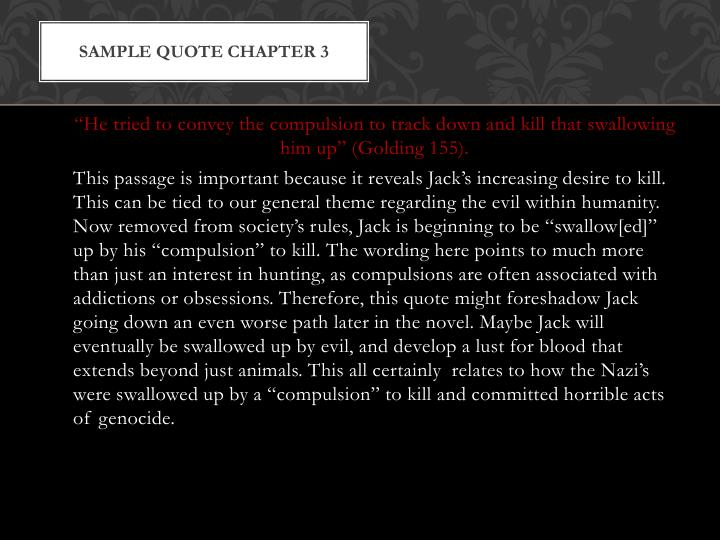 Sample quote Chapter 3