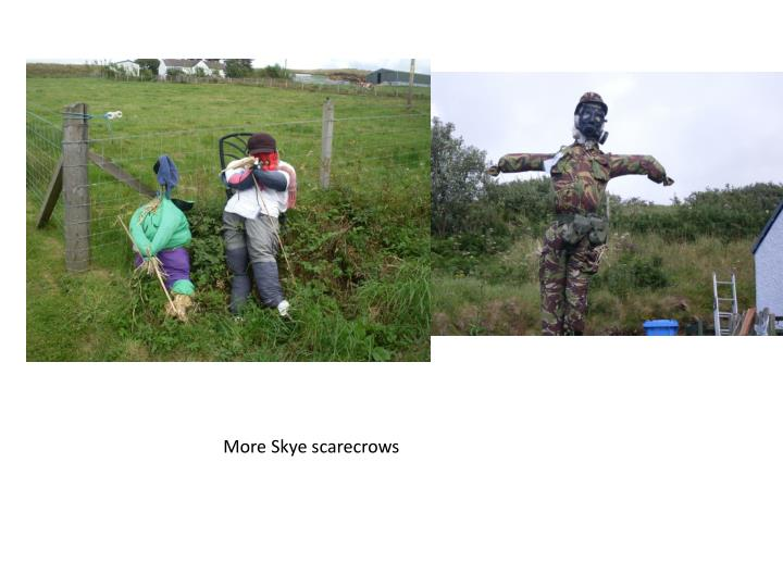 More Skye scarecrows