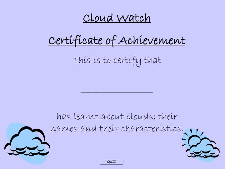 Cloud Watch