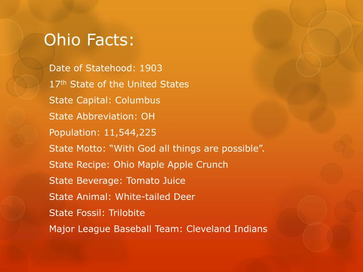 Ohio Facts: