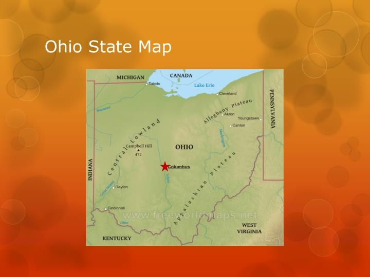 Ohio state map