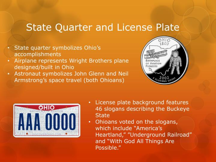 State Quarter and License Plate