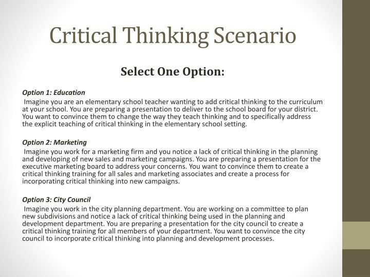 Nursing Critical Thinking Scenarios