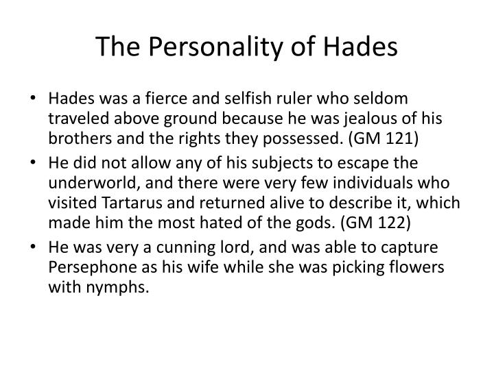 The Personality of Hades