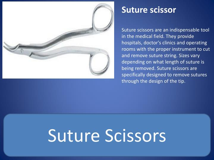 Suture scissor