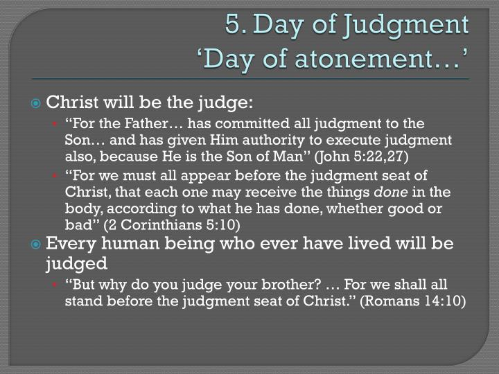 5. Day of Judgment