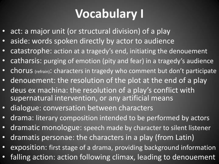Vocabulary I