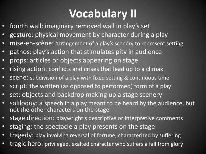 Vocabulary II