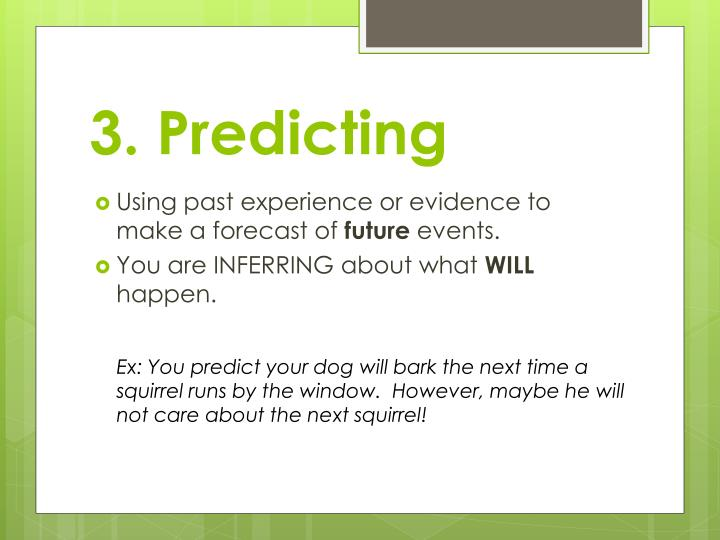 3. Predicting