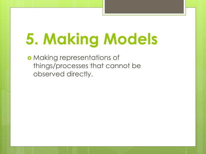 5. Making Models