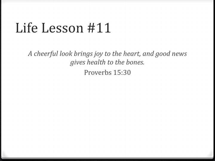 Life Lesson #11