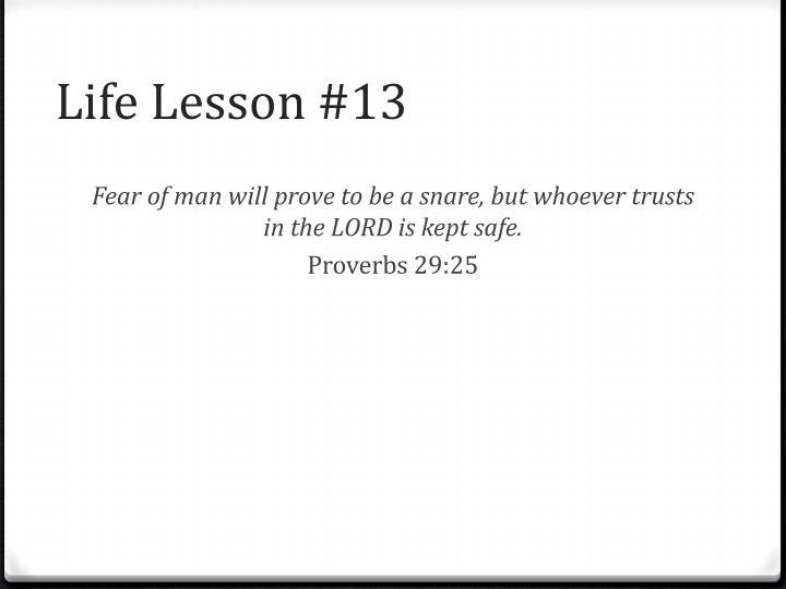 Life Lesson #13