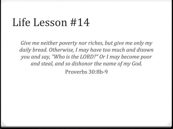 Life Lesson #14