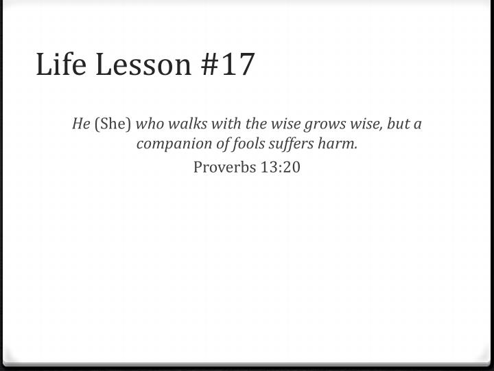Life Lesson #17