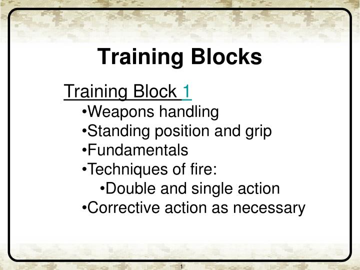 Training Block
