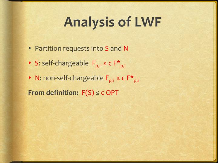 Analysis of LWF