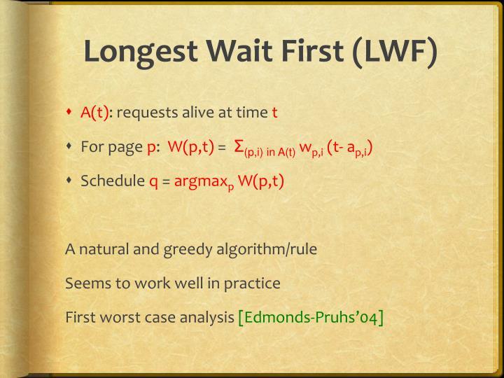 Longest Wait First (LWF)