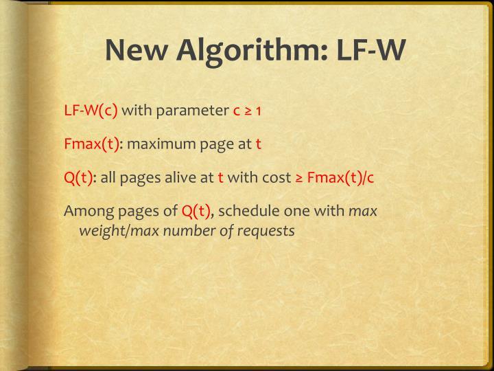 New Algorithm: LF-W