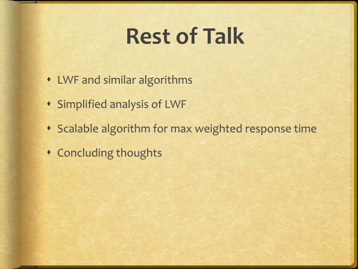 Rest of Talk