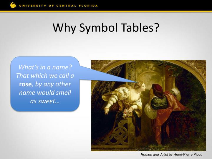 Why symbol tables