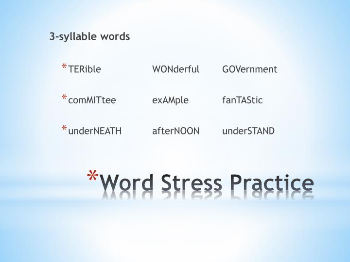 3-syllable words