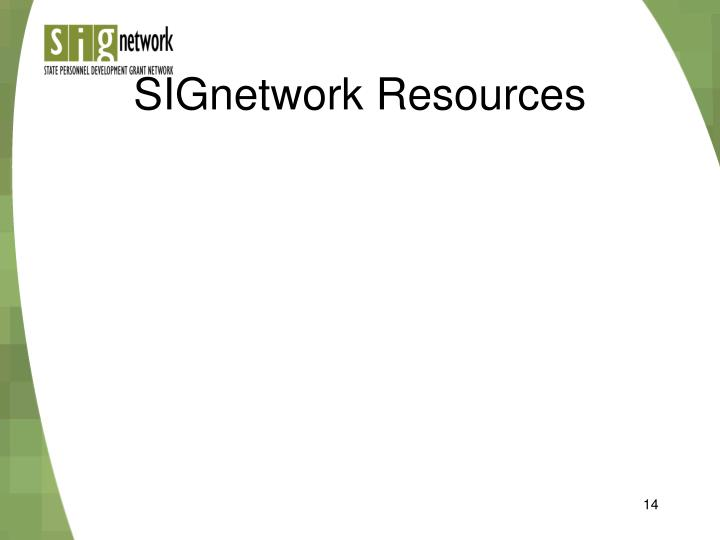 SIGnetwork Resources