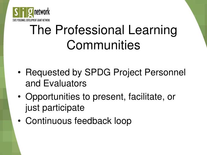 The Professional Learning Communities