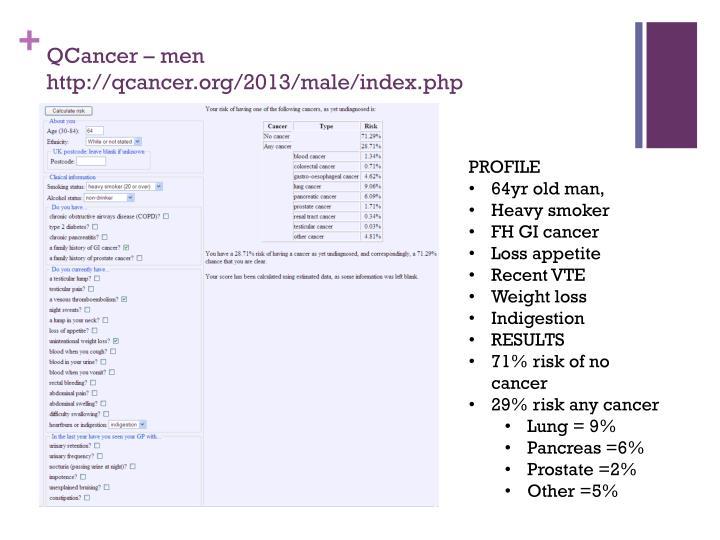 QCancer – men http