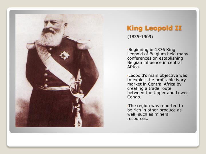 king leopolds scramble for congo The congo free state, leopold's private colony, was a unique political construct that opened the door to the savage exploitation of the congo's natural and human resources by international corporations.